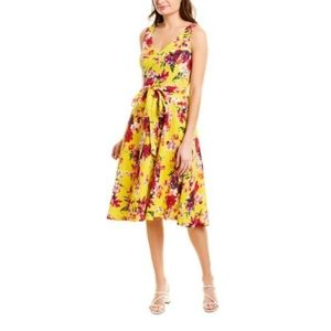 ♡Beautiful♡ TAYLOR Yellow Floral Midi Dress